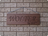 Personalised Wooden Sign
