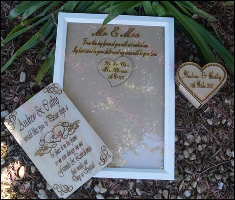 Personalised Guest Attendance Keepsake Set