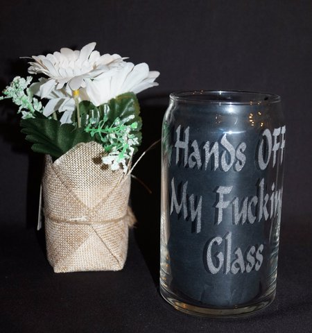 Say What You Mean - Beer Can Glass