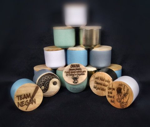 Personalised Cannister Candles