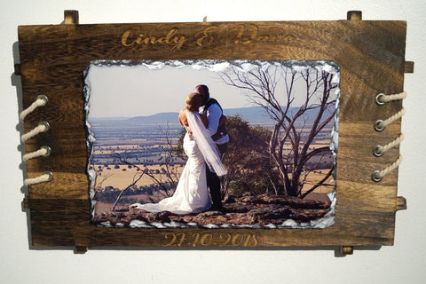 Photo Slate with  Wood Frame