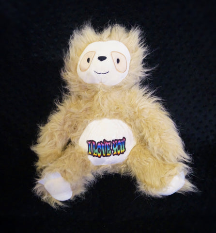 Cuddly Sloth- Personalised -Plush