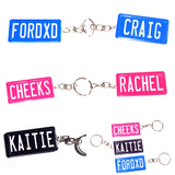 Number Plate Key Ring