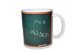 "Blackboard Teacher's Mug - ""I will not Shout"""
