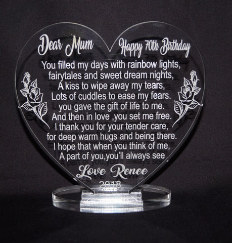 Heart Plaque - Personalised Keepsake
