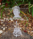 Christmas  Star - For Tree Or Freestanding Personalised