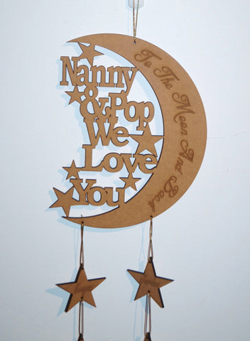 Moon & Back Wall Sign - Custom