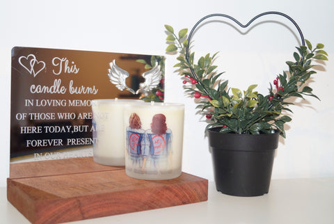 Candle Stand WITH Candle - Memorial , Remembrance , Occasion