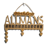 Birthdays & Anniversaries  Calendar