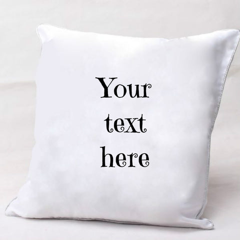 PERSONALISED CUSHION COVER AND INSERT - Text Only