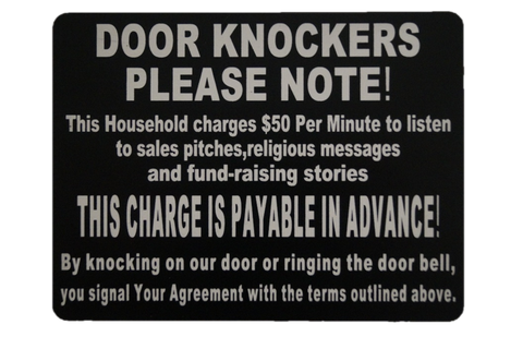 Door Knocker Sign