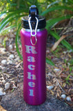 Double walled drink Bottle ~Personalised with Straw