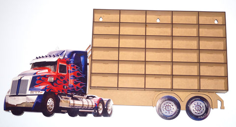 Blue Western Star   Hot Wheels -Matchbox Car Carrier -  Storage