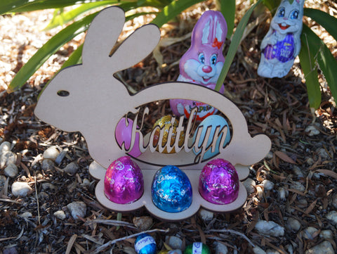 Bunny Easter Egg Holder - Personalised