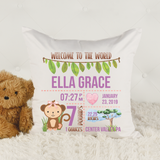 Announcing the Birth -- Personalised Cushion COVER AND INSERT