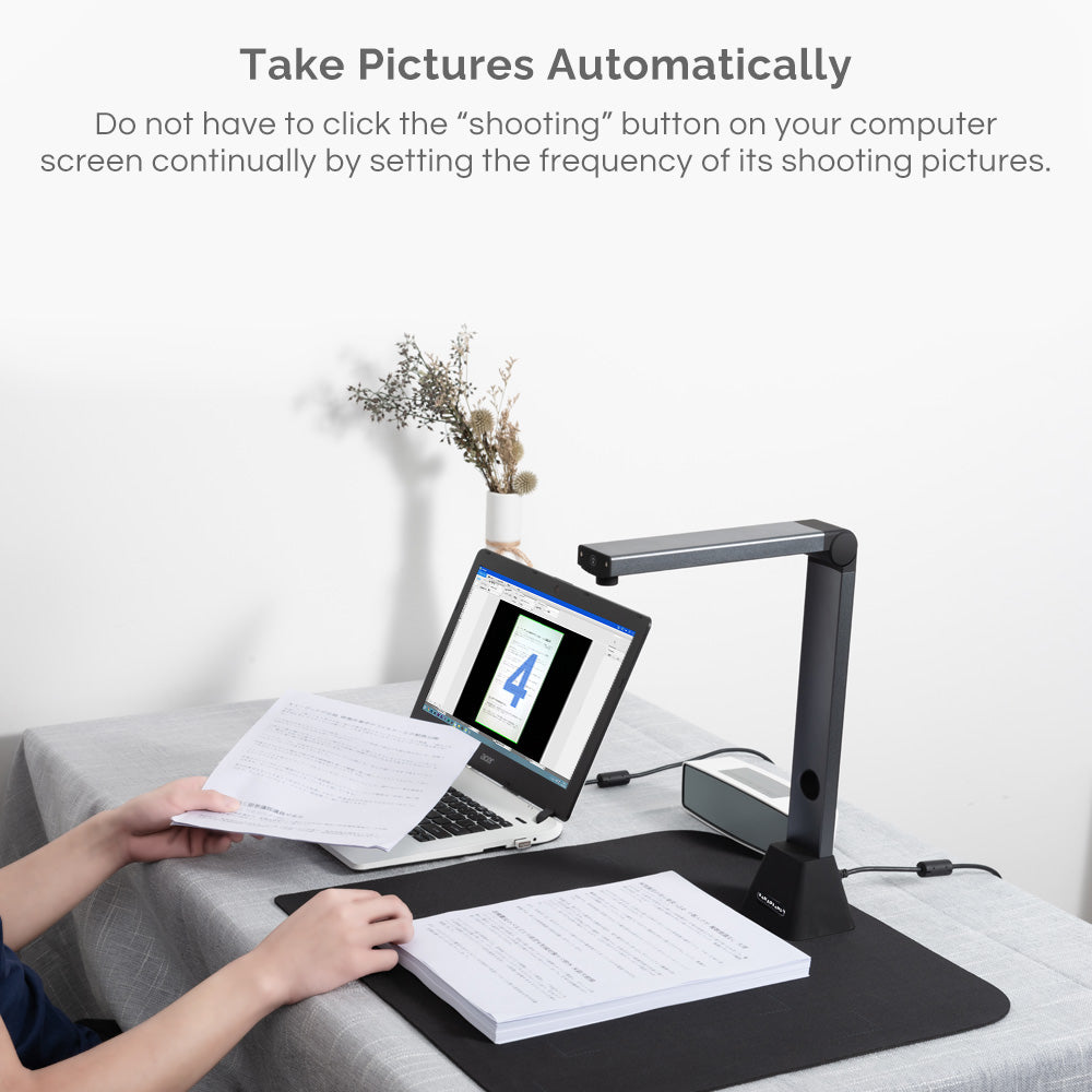 Document Camera X3, High Definition Portable Scanner, Capture Size A3, Multi-Language OCR, English Article Recognition, USB, SDK & Twain, Powerful Software