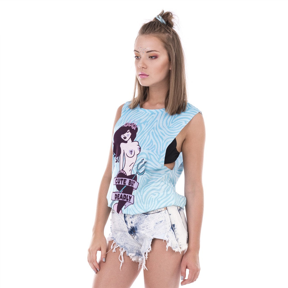 Cute But Deadly Mermaid Tank Top