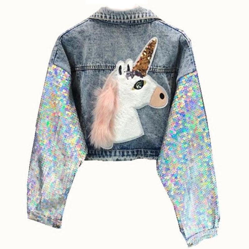 Shiny Unicorn Denim Jacket