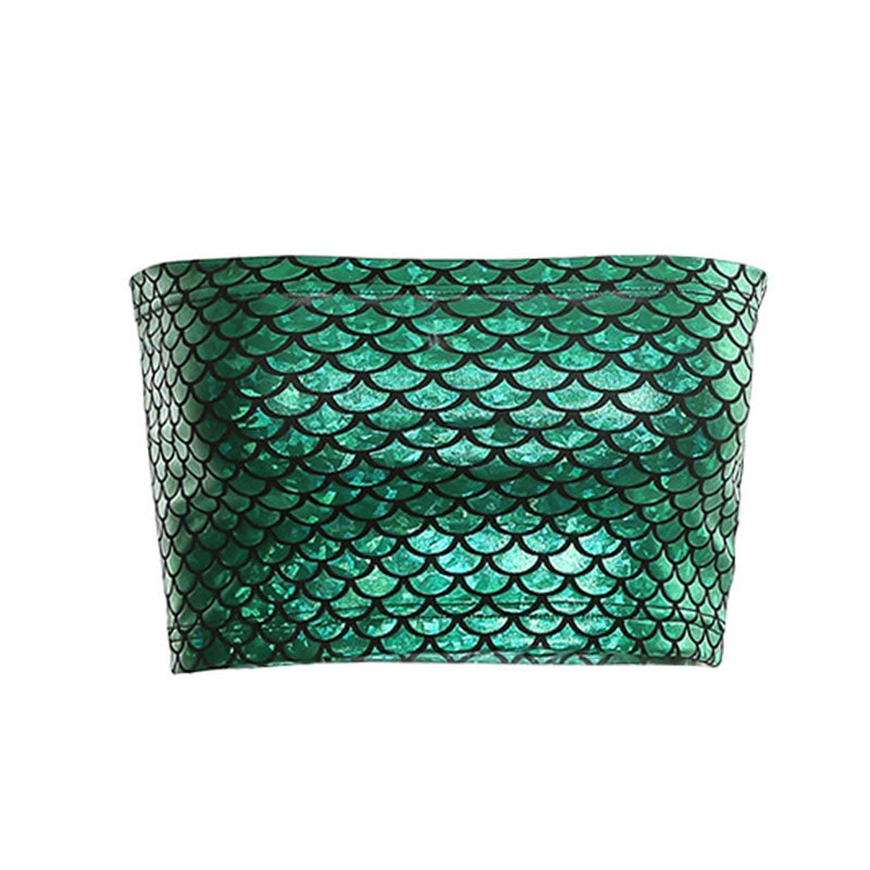 Emerald Mermaid Tube Top