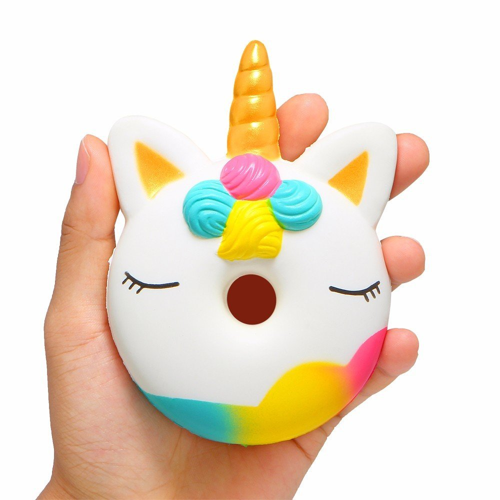 Squishy Unicorn Donut Toy