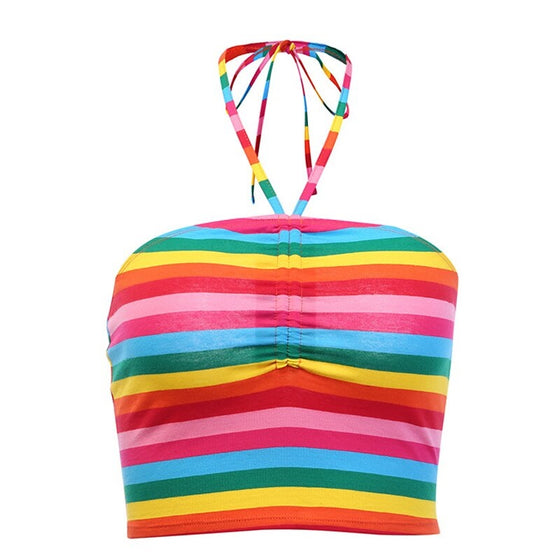 Follow The Rainbow Tube Top