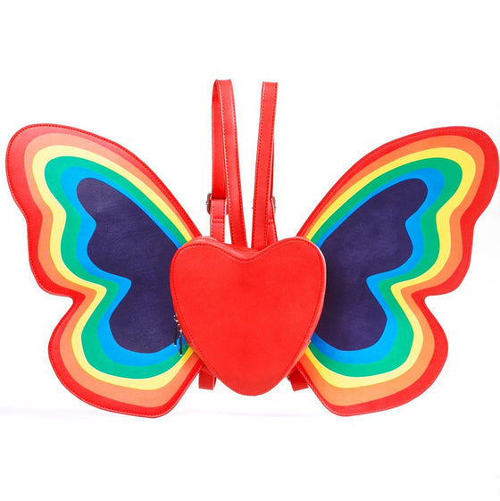 Heart Rainbow Wings Backpack