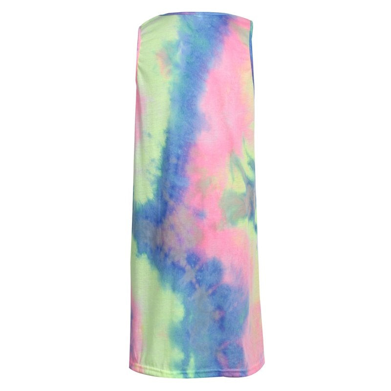 Rainbow Tie Dye Pastel Dress
