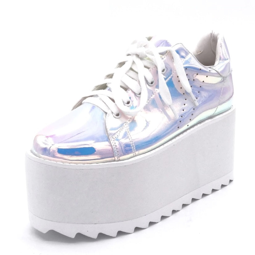 Unicorn Holographic Platform Sneakers