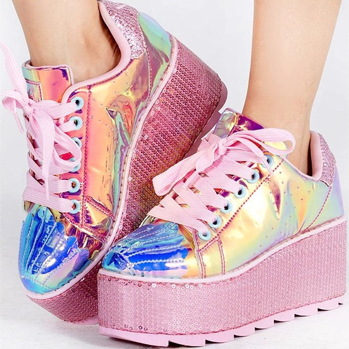 Mermaid Dreamz Platform Sneakers