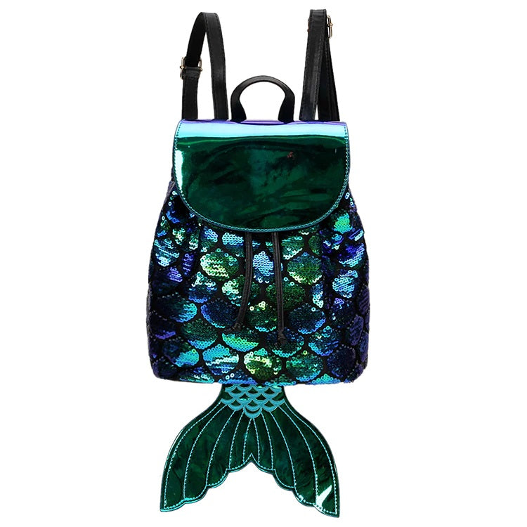 Mermaid Princess Sequins Backpack
