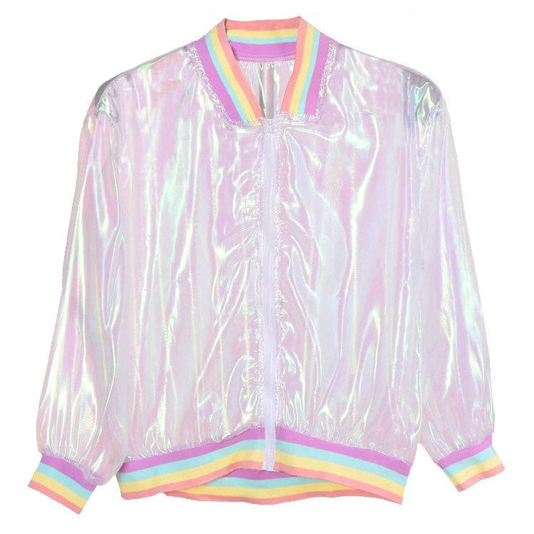 Laser Rainbow Hologram Jacket