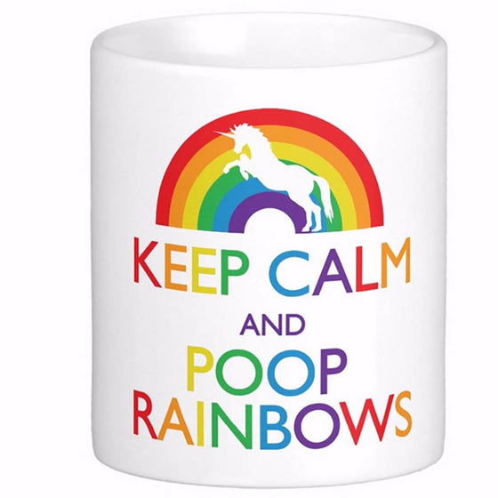 Keep Calm And Poop Rainbows Unicorn Mug