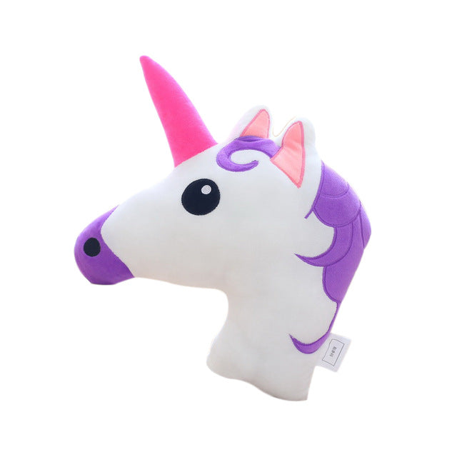 Unicorn Head Pillow