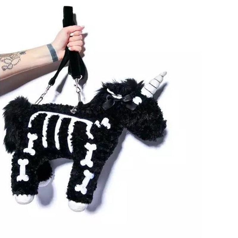 Skeleton Unicorn Purse