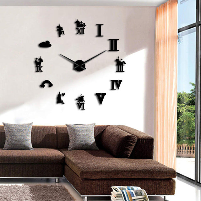 Modern Unicorn Decor Wall Clock