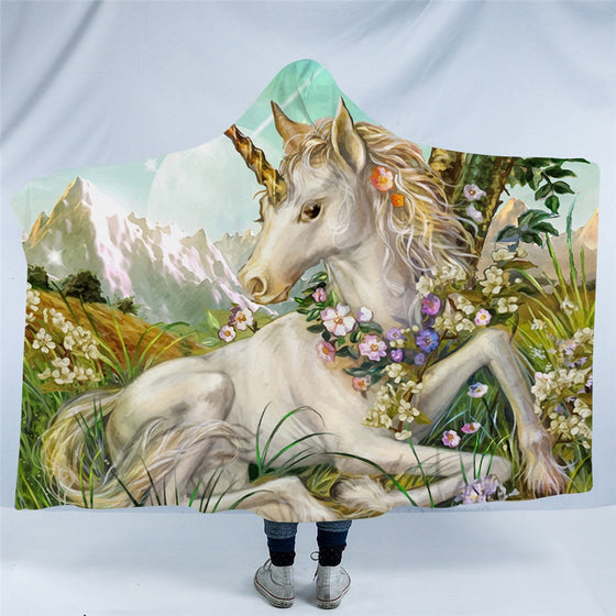 Dreamy Unicorn Hooded Blanket