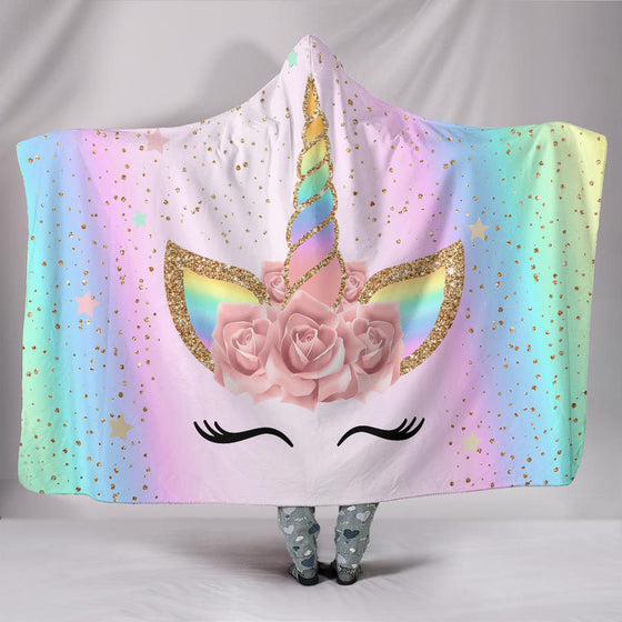 Fabulous Unicorn Hooded Blanket