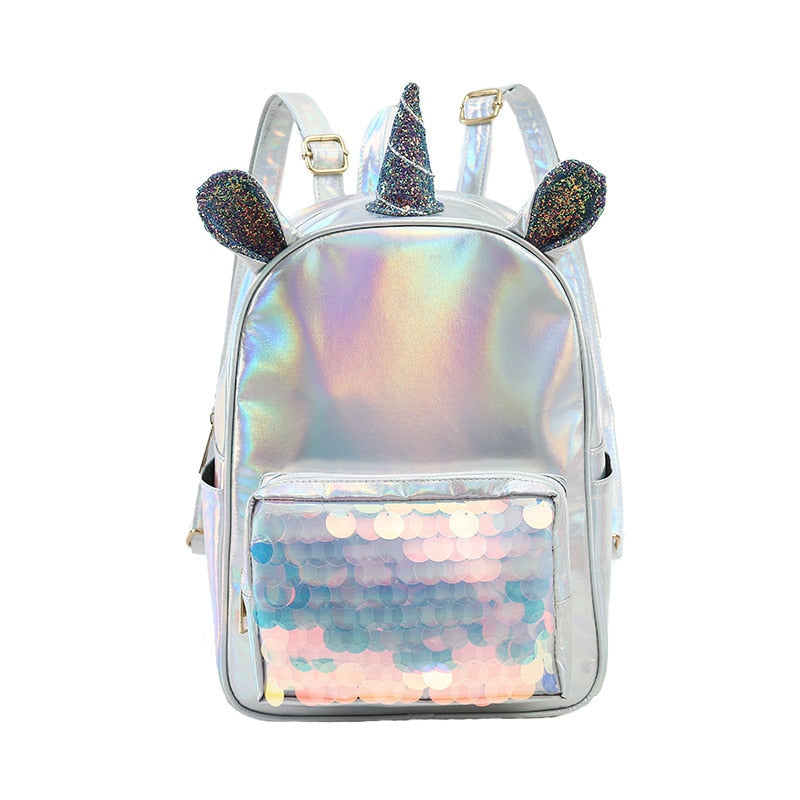Unicorn Holographic Sequin Mini Backpack
