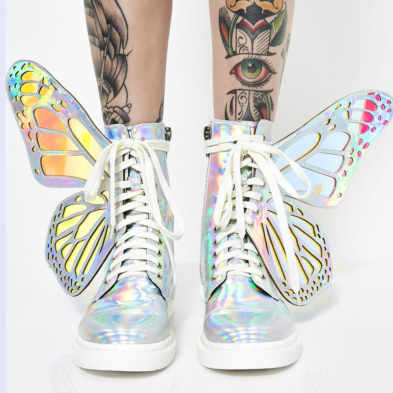 Electric Butterfly Boots