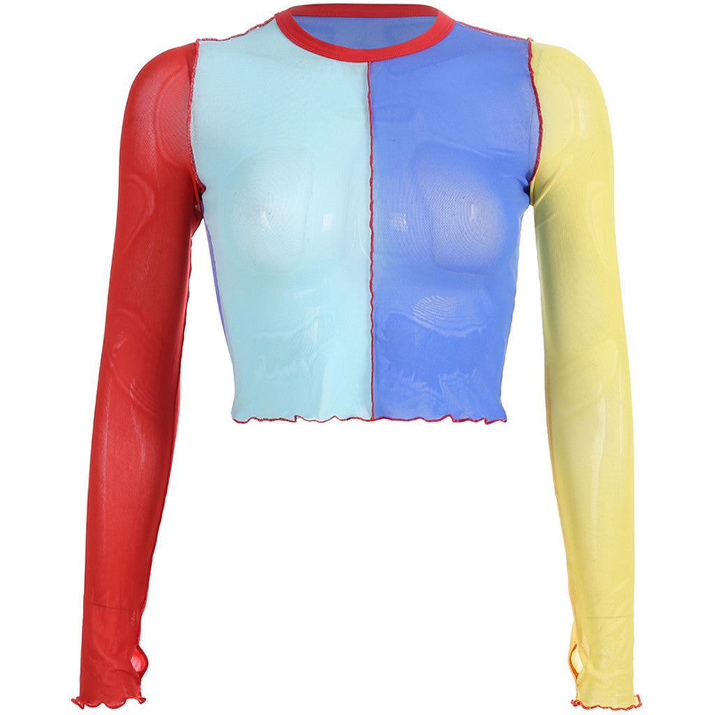 Primary Colorblocks Mesh Top