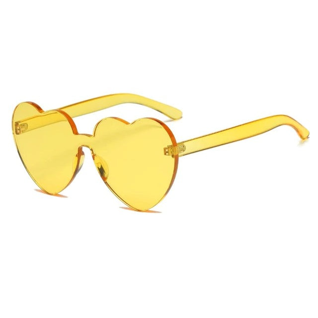 Framless Heart Sunglasses