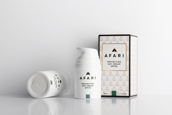 Afari Protecting Day Cream SPF30 is a moisturising sunscreen that protects against daily sun exposure.