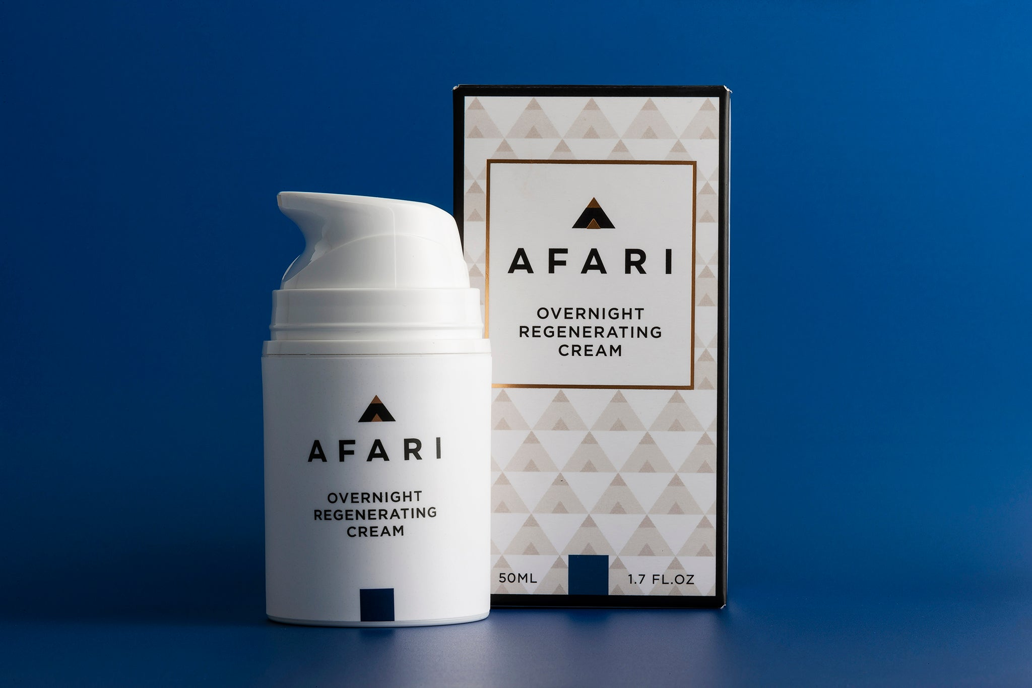 Afari Overnight Regenerating Cream - Wake up to plump rejuvenated skin.
