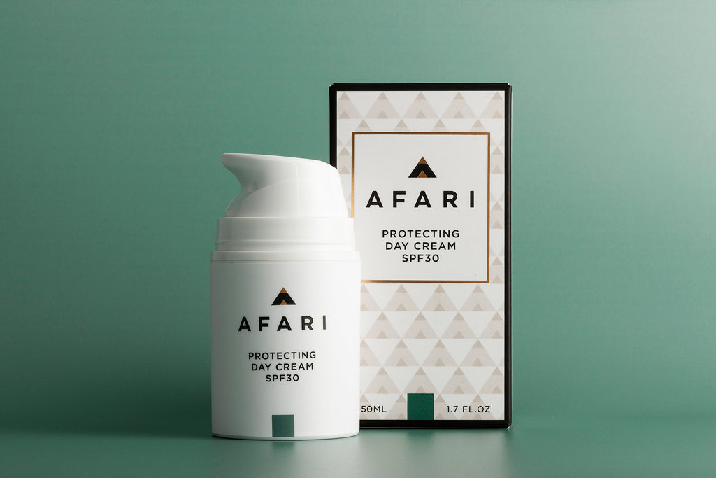 Afari Protecting Day Cream SPF30 is a hydrating moisturiser which protects against the sun's UVA and UVB rays.