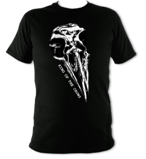 Crow Skull : King Of The Crows T-Shirt