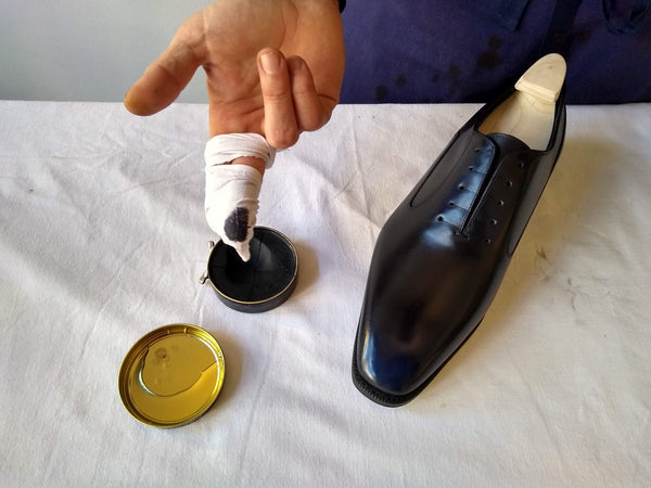 shoe polishing tips glacage process