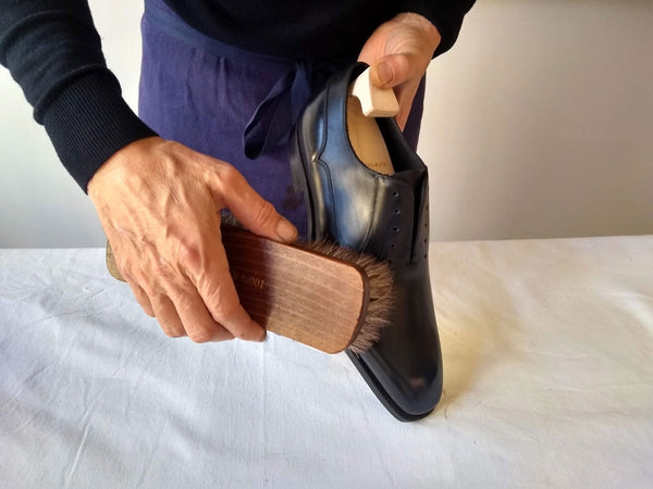 shoe polishing tips brushing