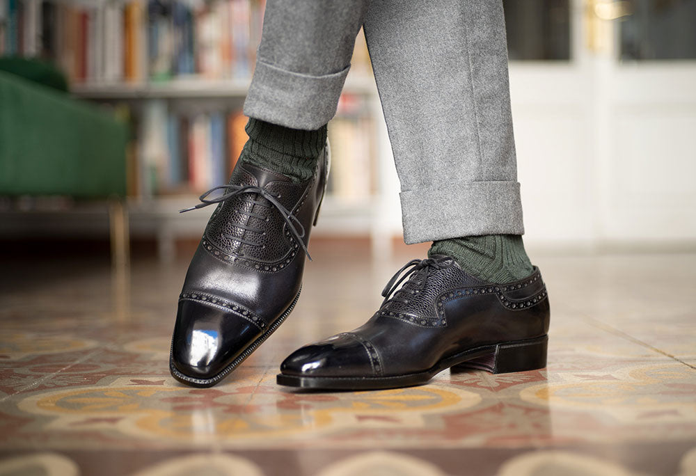Adelaide Full Brogue Oxford by Norman Vilalta Bespoke Shoemakers