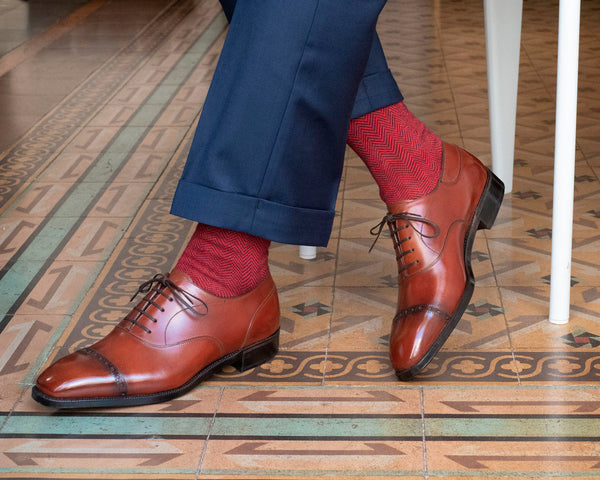 Cap toe oxford by Norman Vilalta Bespoke Shoemakers
