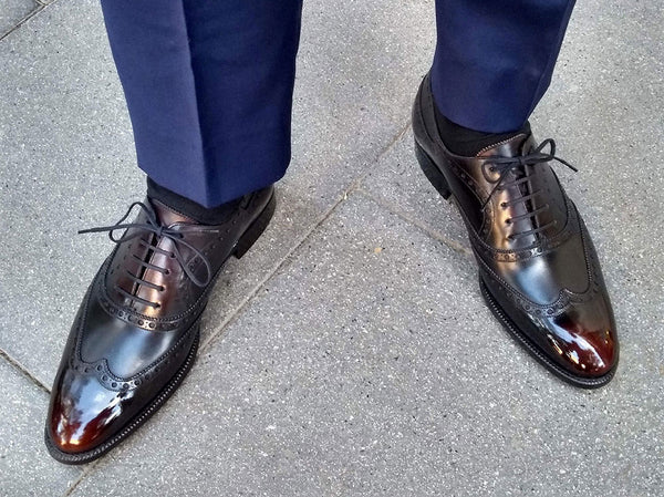 Full Brogue Wingtip Oxford Shoes by Norman Vilalta